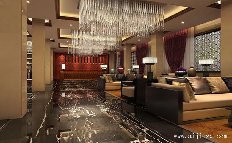 郑州中式风情酒店装修设计效果图