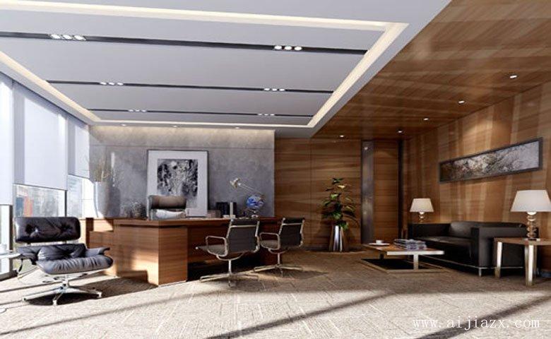 稳重端庄的大气现代风格办公室装修效