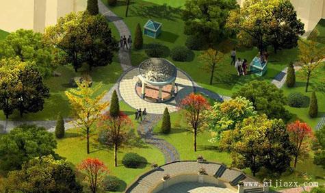 和谐自然的简欧风情园林景观装修效果