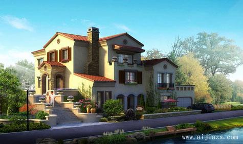 精致优雅的欧式风格别墅外观装修效果