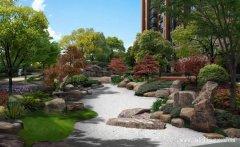 雅逸的混搭风格小区园林景观装修效果