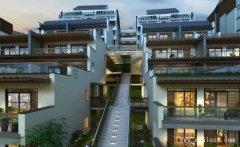 大方个性的新中式风格别墅群外观装修