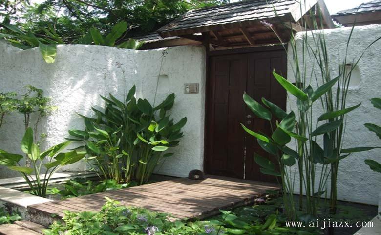 古雅yiqu的中式风geyuan林景观装修效果图