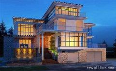 大方质朴的现代风格别墅外观装修效果
