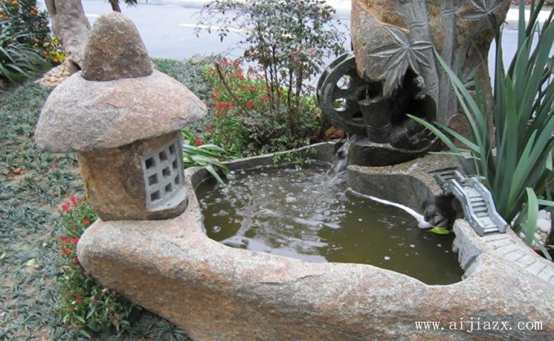闲适qie意的石材园林jingguan装修xiao果图