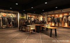 郑州最新的男装专卖店装修效果图