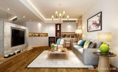 实用的现代简约风格三居室装修效果图