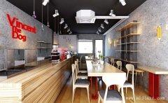 木质空间的简约风格餐馆装修效果图