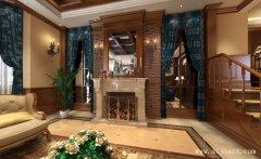 美式风格跃层户型客厅装修效果图