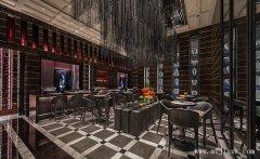 灰色主题的现代风格餐馆装修效果图