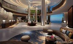 时尚的海边酒店装修效果图