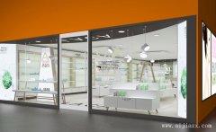 白色简约化妆品专卖店铺装修效果图