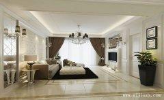 流行的现代简约风格三居室装修效果图