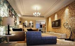 优美舒适的大方现代风格两居室装修效