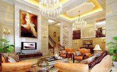 奢华大气的欧式风格别墅客餐厅装修效