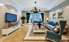 清纯美式田园风格两居室装修效果图