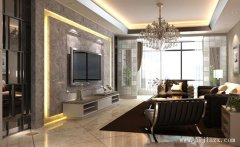 时尚大方的舒适现代风格客餐厅装修效