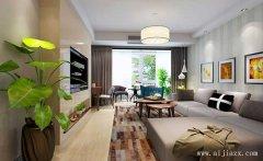 暖色调的80平米现代简约风格一居室装修