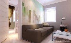 淡雅唯美的现代简约风格一居室装修效