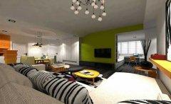 70平米的全开放式现代风格一居室装修效