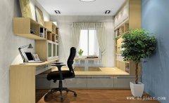 12平米浅色调现代简约风格家装书房装修