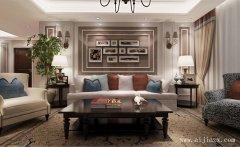 48平米的温馨浪漫美式风格客厅装修效果