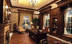 35平米大方舒适的美式风格书房装修效果