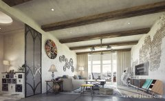 简朴的混搭风格两居室装修效果图