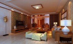 简单的新中式风格三居室装修效果图