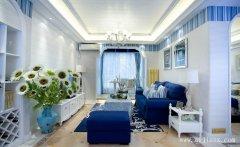 白色简约的地中海风格大户型装修效果