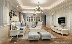 简洁素净的地中海风格两居室装修效果