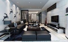 新型的现代风格三居室装修效果图