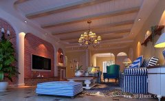 简朴大方的地中海风格三居室装修效果
