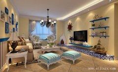 舒适温馨的地中海风格两居室装修效果