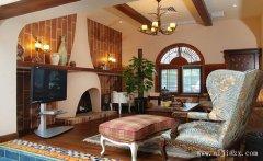 质朴舒适地中海风格两居室客厅装修效