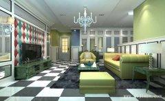 时尚创意的现代风格一居室客厅装修效