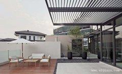 最新极简主义的现代风格别墅阳台装修