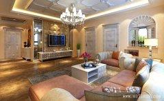 120平米温馨的暖色调欧式风格三居室装