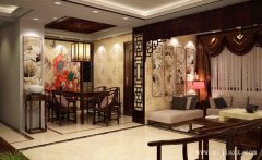 典雅中式风格两居室客餐厅装修效果图
