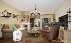 美式混搭风格小户型客厅装修效果图
