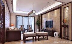 郑州新中式风格客餐厅装修效果图