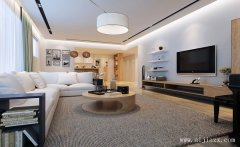 纯净质朴的白色现代简约风格两居室装
