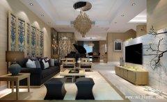 开阔幽雅的370平米个性现代风格别墅装