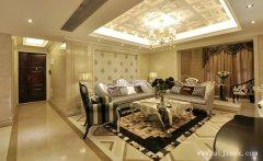 雍容奢华的大气新古典风格客厅装修效