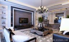 最新黑白配色简欧风格客厅装修效果图