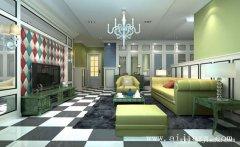 创意现代风格个性时尚一居室装修效果