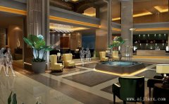 低调简洁郑州酒店装修效果图