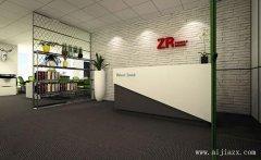 简约创意的黑白色办公室装修效果图