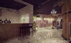 优雅环境的唯美女装店铺装修效果图