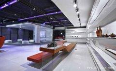 现代时尚的太空色科技产品展厅装修效